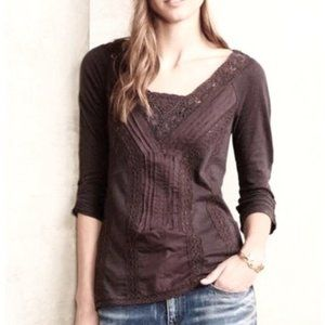 Anthropologie Meadow Rue Lace Medley Top